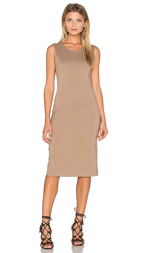 8d1148b7279 BLAQUE LABEL Backless Pencil Dress in Dark Taupe low-cost - asegnini.com