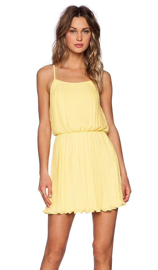 BLAQUE LABEL Pleated Tank Dress in Yellow