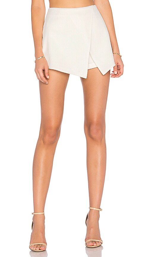 BLAQUE LABEL Wrap Skort in White