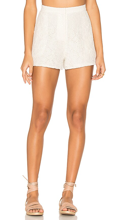 BLAQUE LABEL Lace Shorts in White