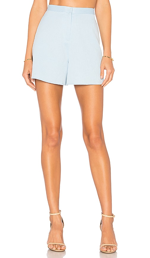 BLAQUE LABEL High Waisted Short in Baby Blue