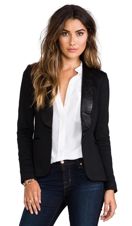Leather Detailed Blazer
