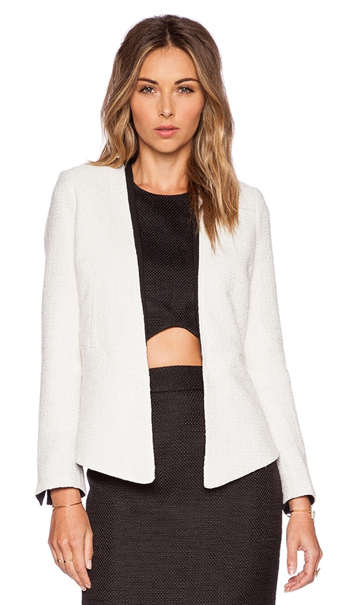 BLAQUE LABEL Contrast Jacket in Beige