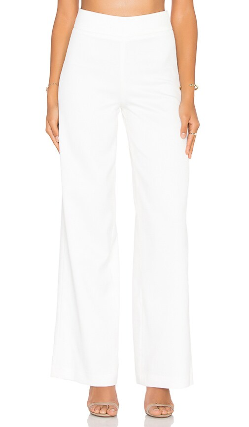 BLAQUE LABEL Palazzo Pant in White