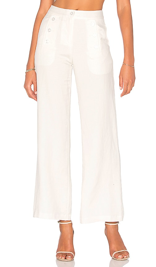 BLAQUE LABEL High Waisted Pant in White