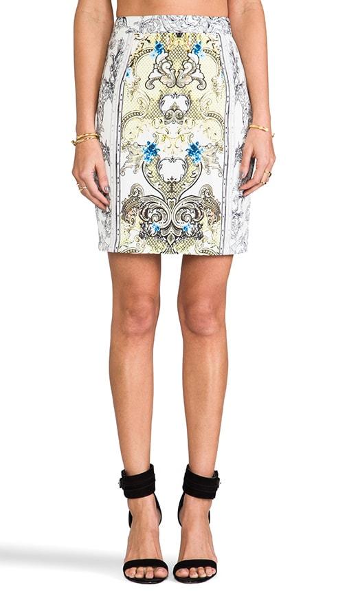 Brocade Print Skirt