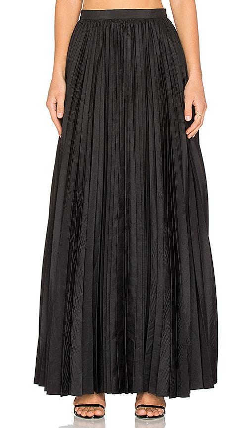 BLAQUE LABEL Pleated Maxi Skirt in Black