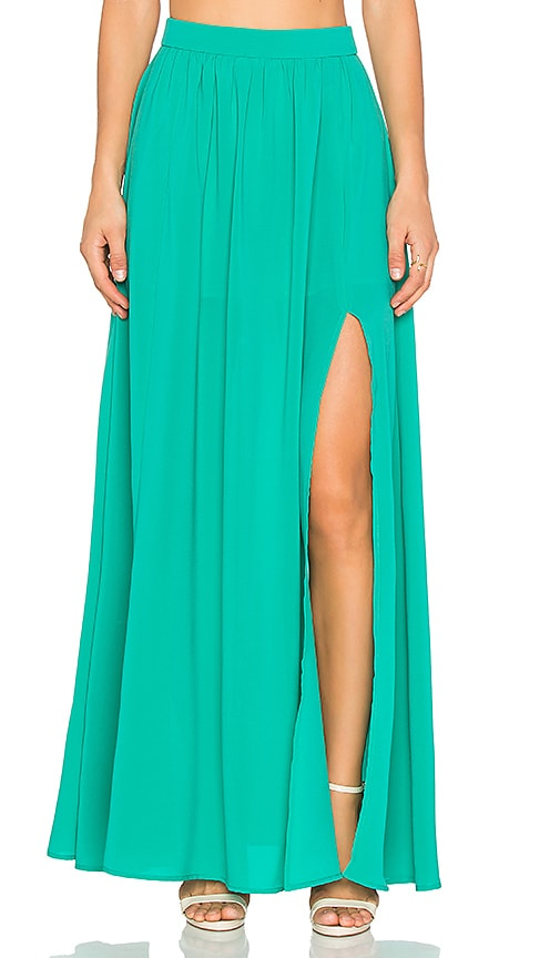 BLAQUE LABEL x REVOLVE Maxi Skirt in Emerald
