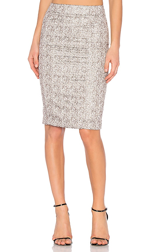 BLAQUE LABEL Pencil Skirt in Metallic Silver