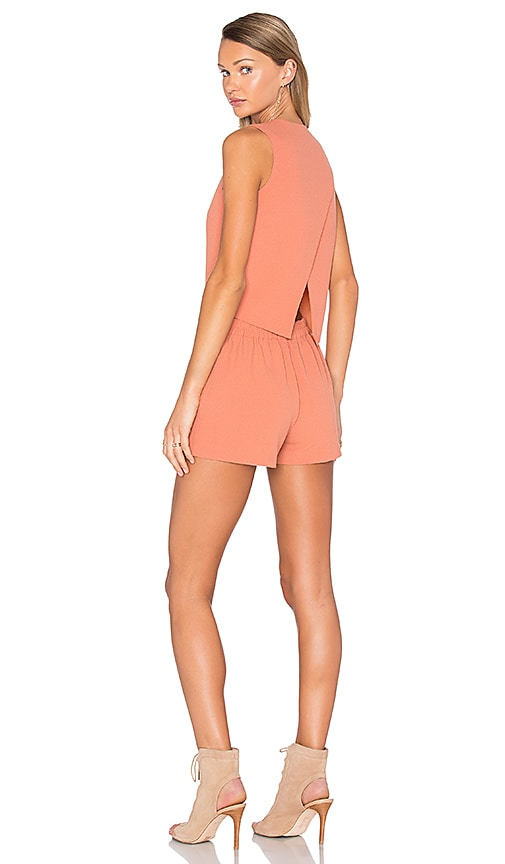 BLAQUE LABEL Cross Back Romper in Orange