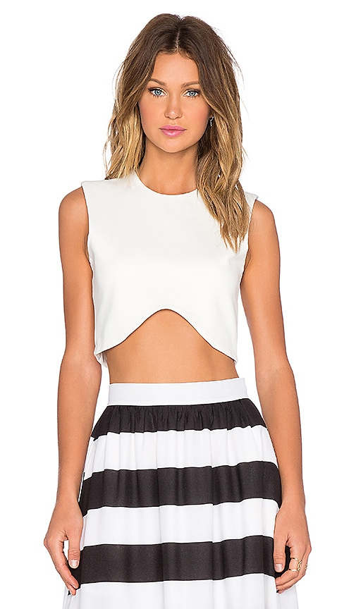 BLAQUE LABEL Crop Top in White