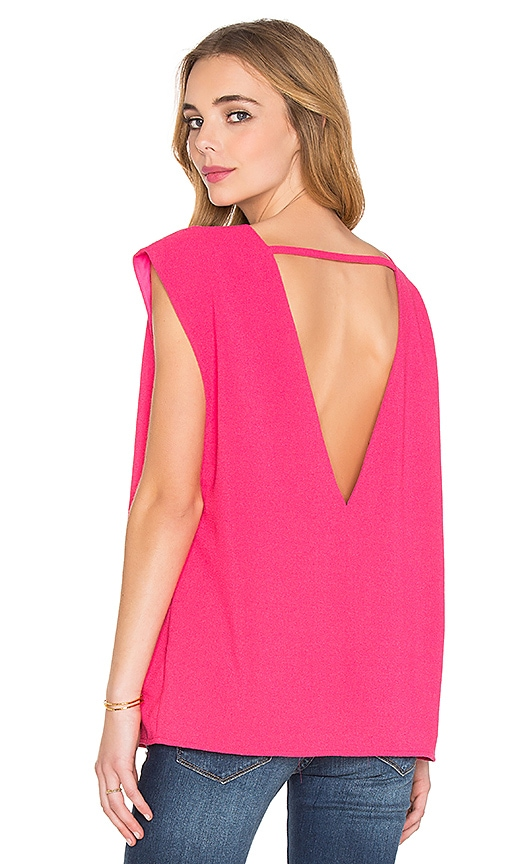 BLAQUE LABEL V-Back Top in Fuchsia