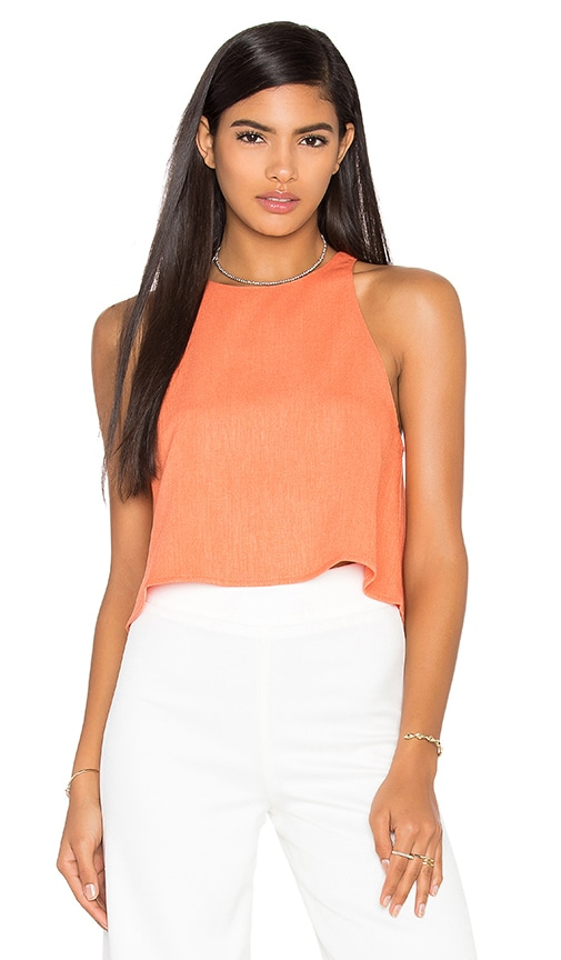 BLAQUE LABEL Woven Tank in Orange