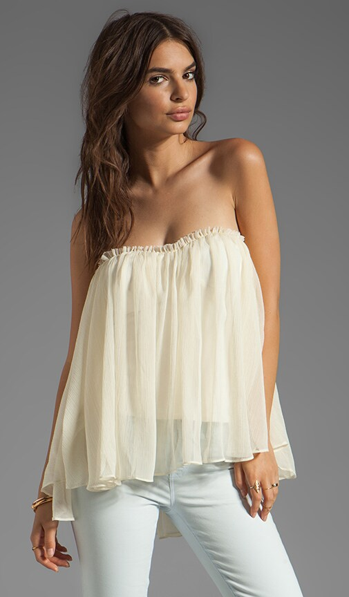 Strapless Ruffle Top
