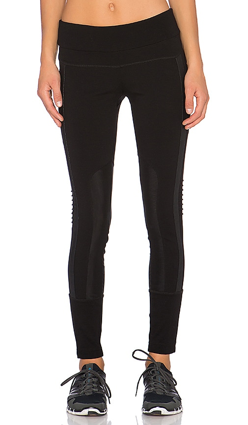 BLANC NOIR Performance Mesh Paneled Legging in Black