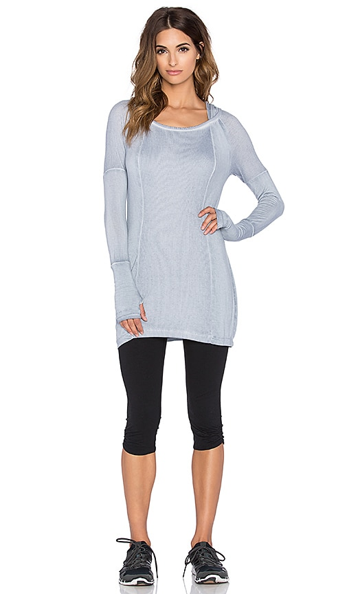 BLANC NOIR Hooded Tunic in Pigment Grey
