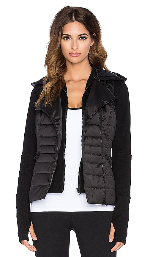 BLANC NOIR 3-In-1 Packable Moto Jacket in Black