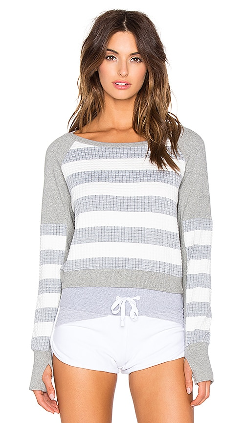 Crop Stripe Sweatshirt
