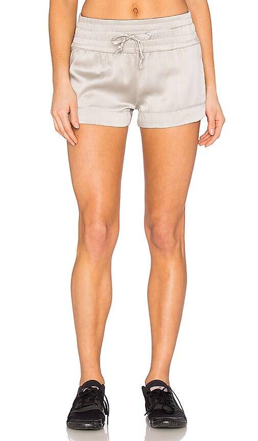 BLANC NOIR Silk Lounge Short in Gray