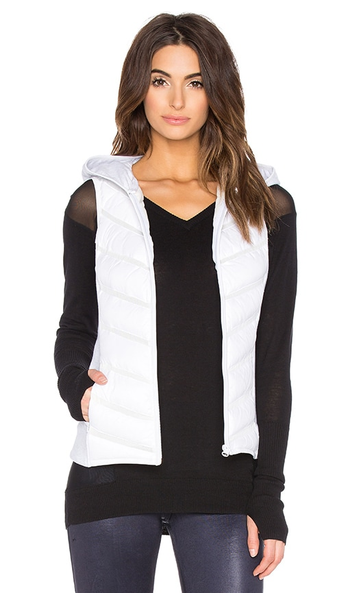 BLANC NOIR Packable Moto Vest in White
