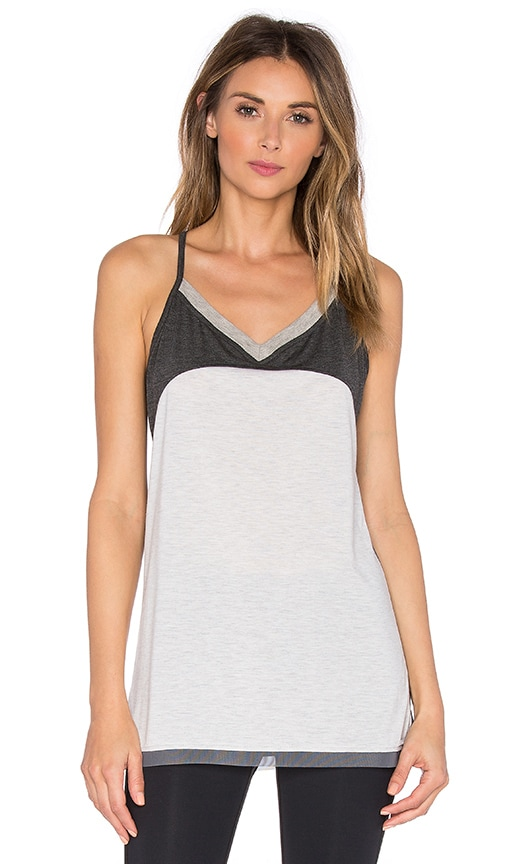 BLANC NOIR Racer Tank in Ash Heather & Charcoal Heather