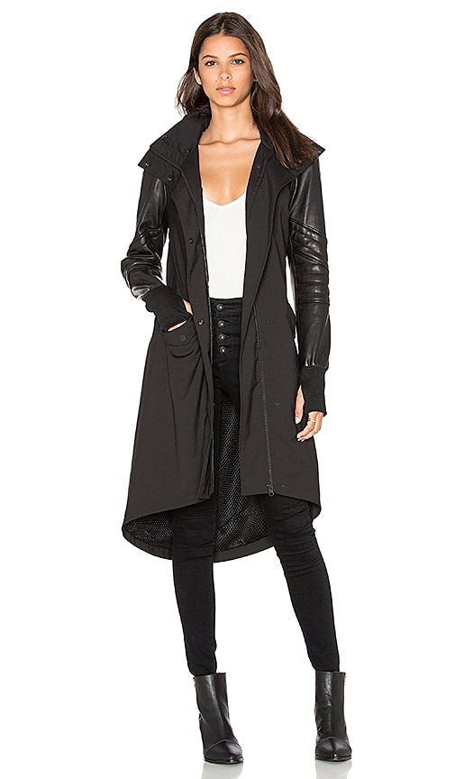 BLANC NOIR Drape Anorak Jacket in Black