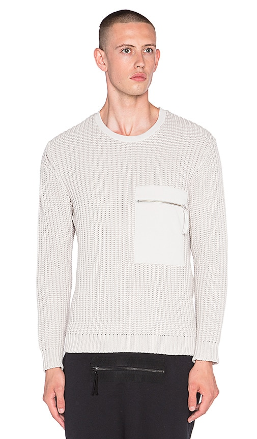 Blood Brother Capture Knit Sweater in Ice Grey