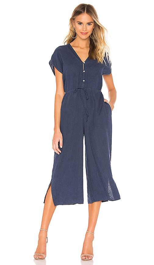 Capsleeve V Neck Jumpsuit