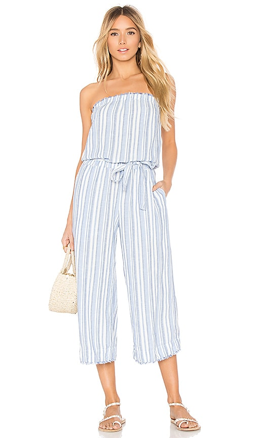 Strapless Fray Jumpsuit