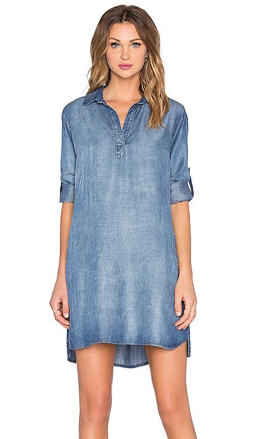 Bella Dahl A-Line Shirt Dress in Evening Mist