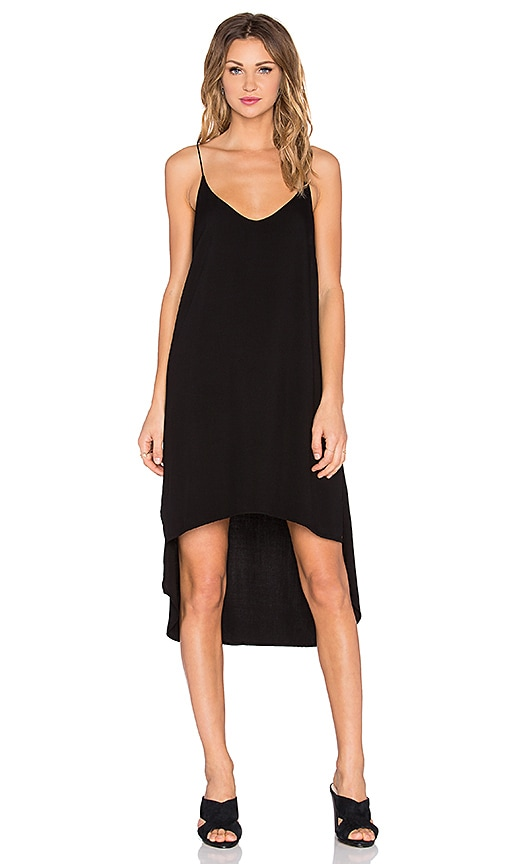 Bella Dahl Hi-Lo Midi Dress in Black