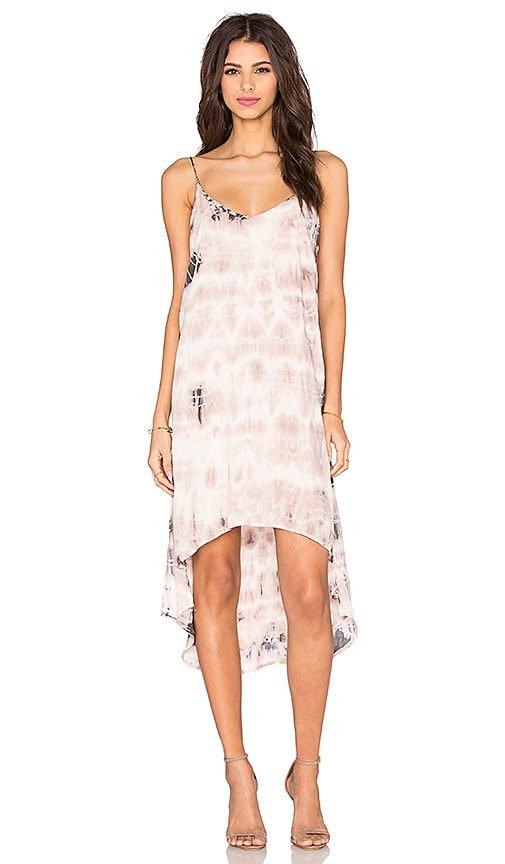 Bella Dahl High Low Hem Dress in Pink Sand