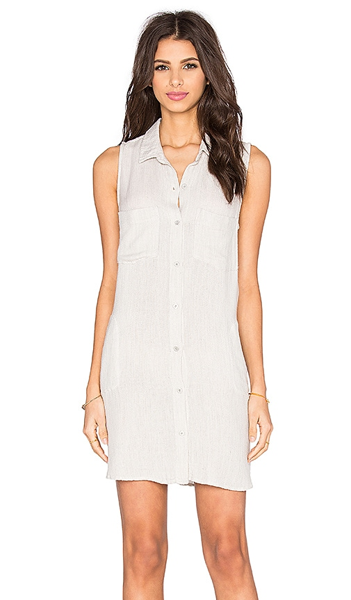 Bella Dahl Easy Shirt Dress in Gray