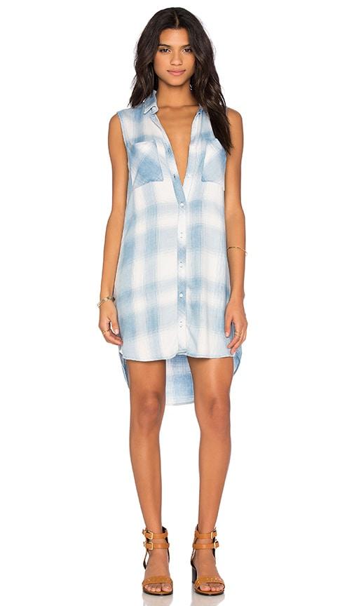 Bella Dahl Sleeveless Hipster Dress in Light Cloud Wash