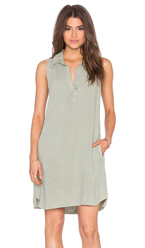 Bella Dahl Sleeveless A Line Dress in Green