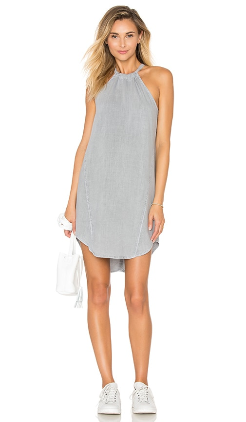 Bella Dahl Seams Halter Dress in Gray