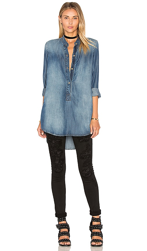 Bella Dahl Pocket Tunic in Blue
