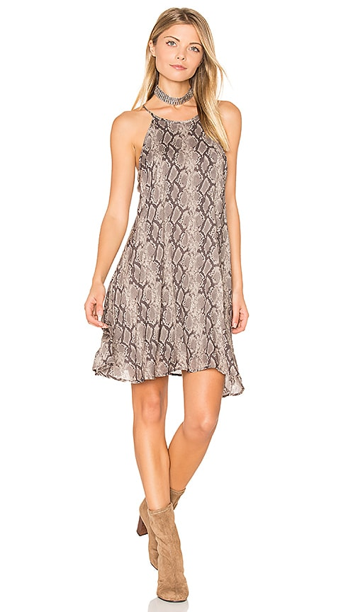 Bella Dahl Halter Dress in Gray