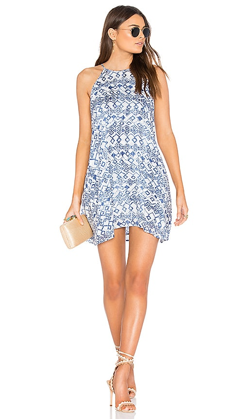 Bella Dahl Halter Dress in Blue