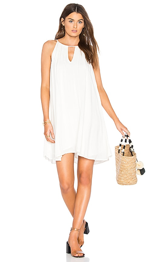 Bella Dahl Handkerchief Halter Dress in White