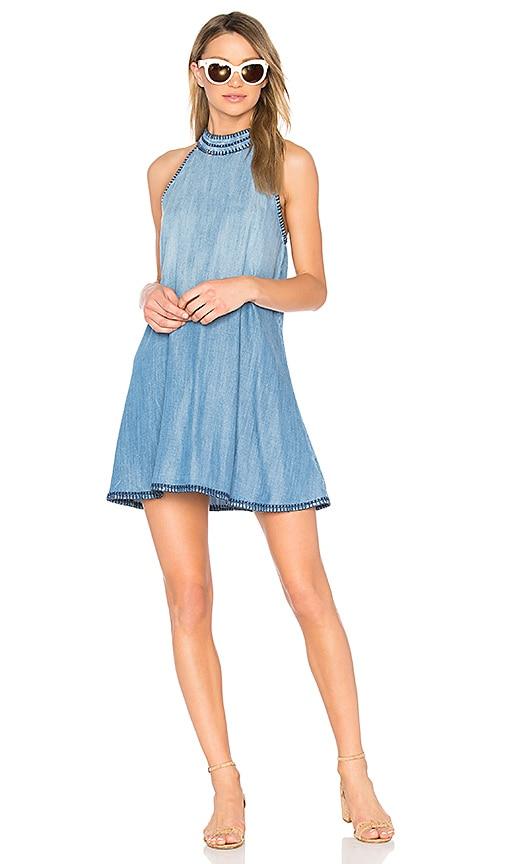 Bella Dahl Halter Mini Dress in Blue