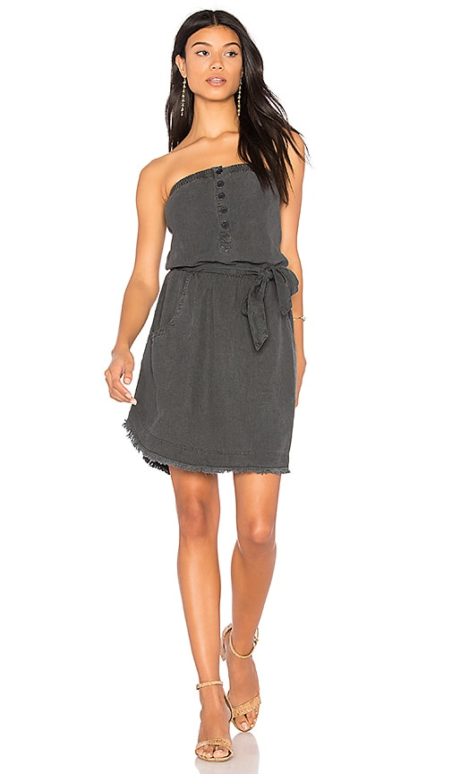 Bella Dahl Strapless Mini Dress in Charcoal