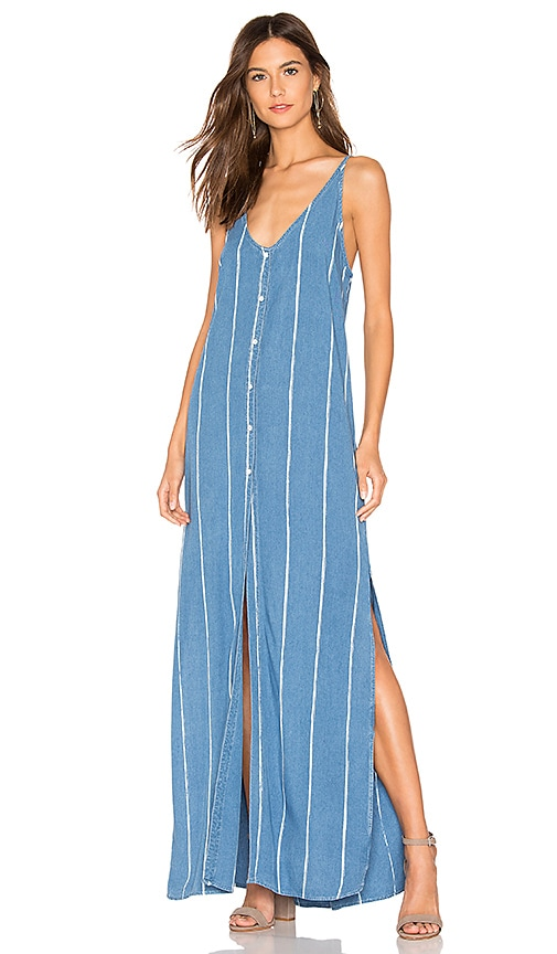 Pleat Back Maxi Dress
