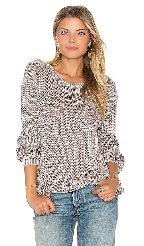 Bella Dahl Distressed Dye Sweater in Gray