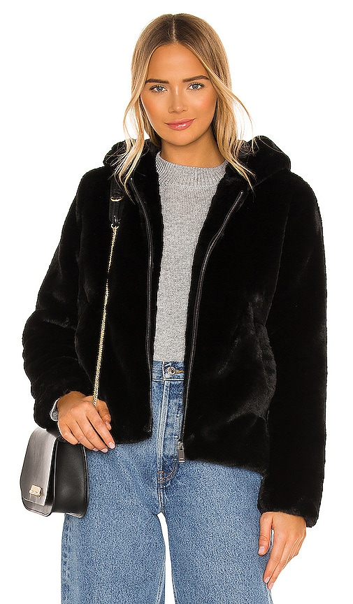 Bella Dahl Faux Fur Zip Up Hoodie