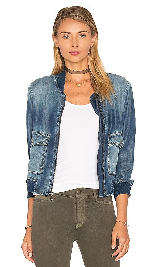Bella Dahl Patch Pocket Bomber Jacket in Islay Wash