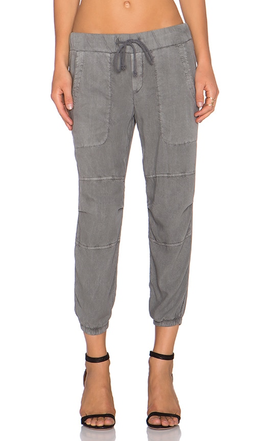 Bella Dahl Utility Jogger Pant in Oxford Grey