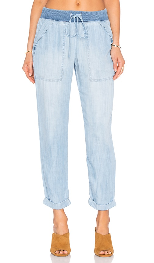 Bella Dahl Folded Pocket Pant in Blue