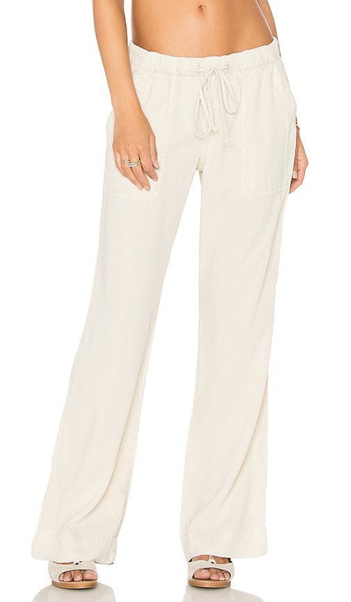 Bella Dahl Easy Pocket Wide Leg Pant in Beige