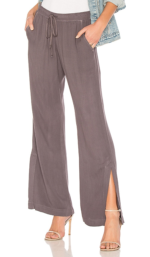 Bella Dahl Wide Leg Pant in Gray